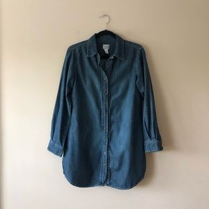 Chico's denim tunic/shirt dress